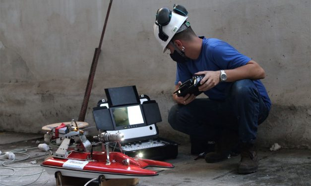 Robôs com controle remoto são usados para inspeção em galerias pluviais